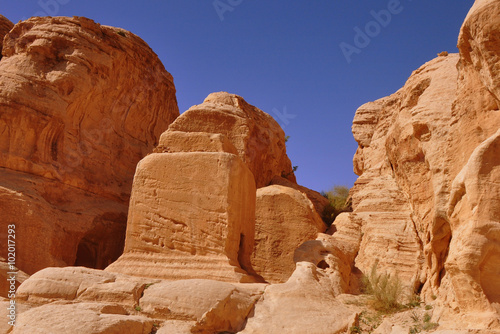 Deurstickers Midden Oosten kleines Grab in Petra