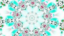 White And Green Kaleidoscope