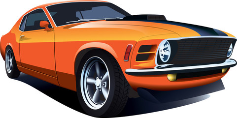 Orange 70s american customi...
