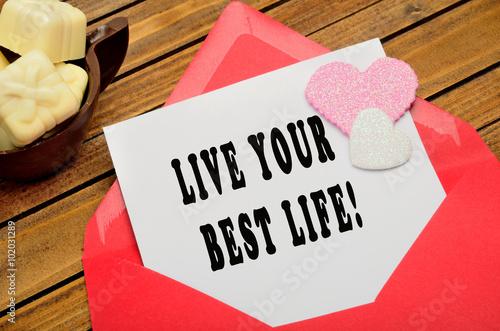 Fotografie, Obraz  Live your best life