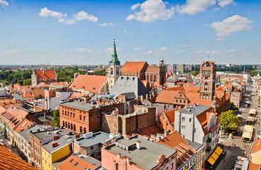 Fototapeta Medieval Torun old town. Poland