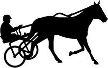 Harness Racing Silhouette