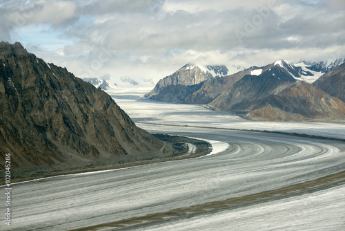 Fotografie, Obraz  Kaskawulsh Glacier and Mountains, Kluane National Park, Yukon 01