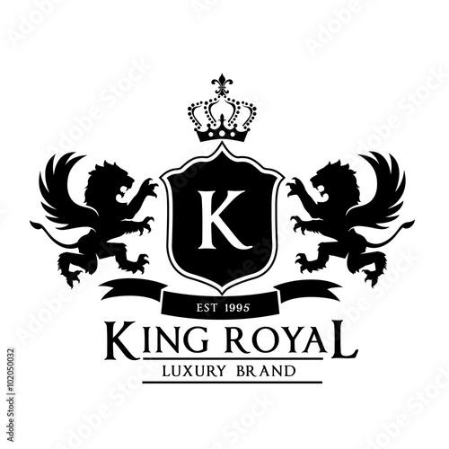 King Royalcrest Logolion Logoking Logocrown Logovector