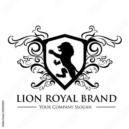 king royal crest logo lion logo king logo crown logo vector logo