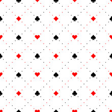 Playing Card Suits Signs Seaml...