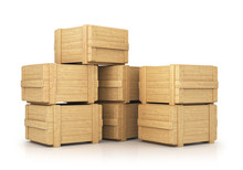 Stack Of Wooden Boxes