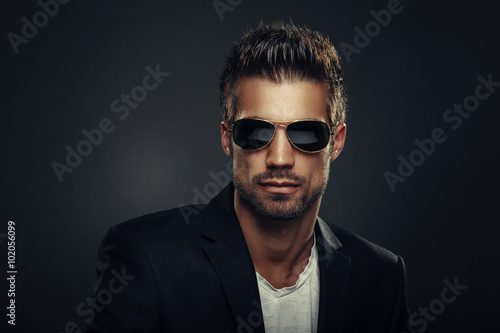 Portrait of men with sunglasses
