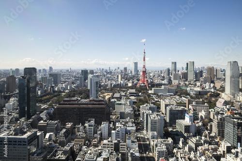 Papiers peints Paris TOKYO, JAPAN - 19 FEBRUARY 2015 - The city of Tokyo, Tokyo tower