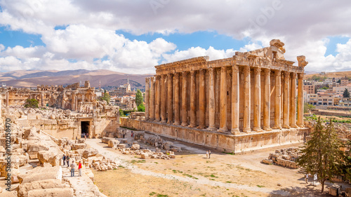 Photo Bacchus temple in Baalbek, Lebanon