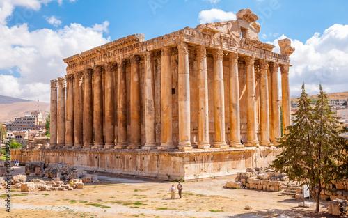 Plakat Bacchus świątynia w Baalbek, Liban