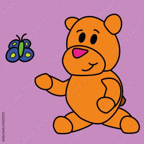 Photo  Bear drawing for kids