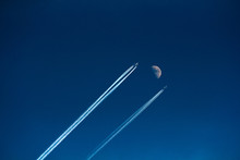 Two Aircraft Flying In The Sky...