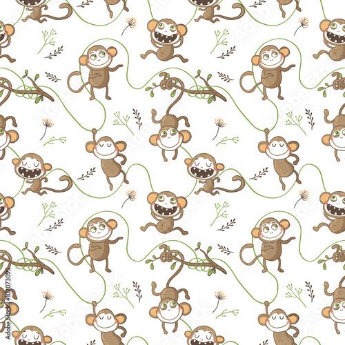 Wzór z śmieszne małpy.