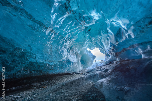 Poster Glaciers Ice caves in Iceland