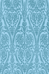 Hand drawn seamless striped damask background vector