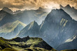 canvas print picture - Berge