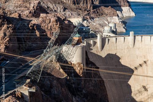 Fotografie, Obraz  Hoover Dam and Lake Mead