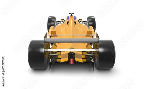 Türaufkleber Schnelle Autos Yellow race car