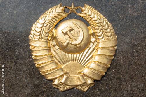 Fotografia  Golden soviet CCCP emblem