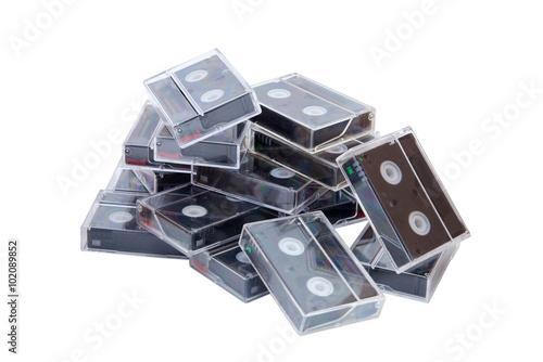 Fényképezés  miniDV cassette on white background