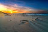 Fototapeta Fototapety z morzem do Twojej sypialni - Krajobraz morski o zachodzie słońca