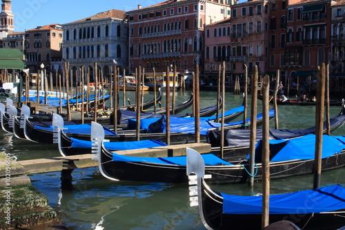 Spoed Foto op Canvas Gondolas imbarcazioni gondole