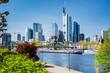 Frachtschiff, Main, Frankfurter Skyline