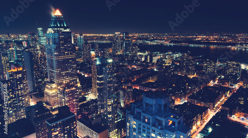Wall Murals New York New York City skyline at night