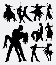 Tango Salsa 3, Couple Male And Female Modern Dance. Good Use For Symbol, Web Icon, Logo, Mascot, Sign, Or Any Design You Want. Easy To Use.