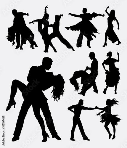Fotomural Tango salsa 3, couple male and female modern dance