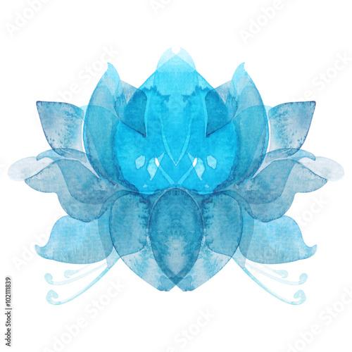 Photographie  Symbole de lotus chakra fleur aquarelle