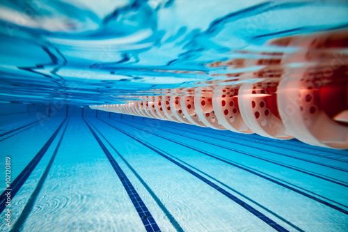 Swimming pool background Fototapeta