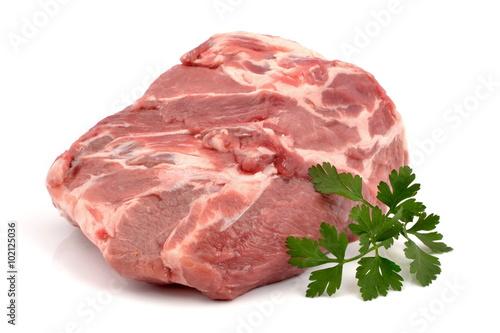 Staande foto Vlees mięso wieprzowe karkówka