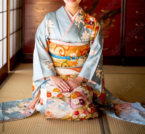 Valokuvatapetti Japanese kimono