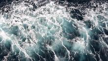 Seawater With Sea Foam Behind ...