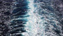 Seawater With Sea Foam Behind A Boat As Background, Full HD Video