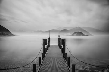 Panel Szklany Czarno-Biały lago