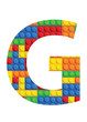 G letter font - seamless vector pattern of plastic parts