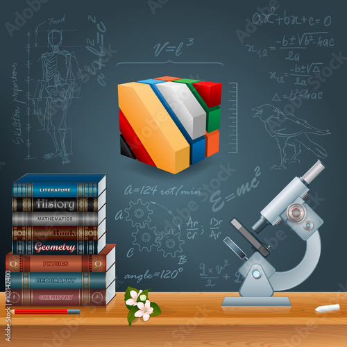 abstract design template for education with learning process study