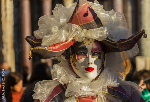 Poster Inspiration painterly Carnival masks the annual event sustain in Venice Italy