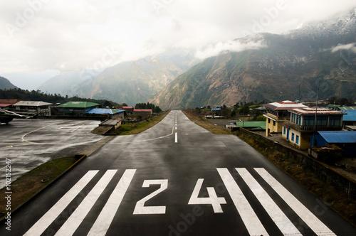 Fotografie, Obraz  Dangerous Airport Strip - Lukla - Nepal