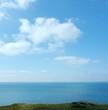 Coastal view blue sky