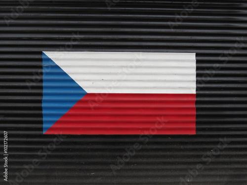 Photo  Flag of the Czech Republic