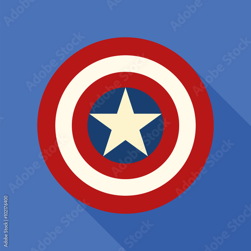Shield with a star, superhero shield, comics shield Canvas Print