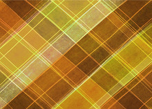 Autumn Or Thanksgiving Background Colors, Plaid Gold Orange And Brown Striped Background With Hand Drawn Lines In Abstract Pattern, Warm Background Tones