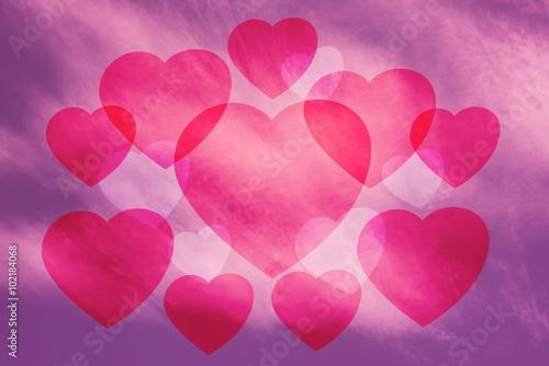 Keuken foto achterwand Roze Valentine Sky background , pink , heart