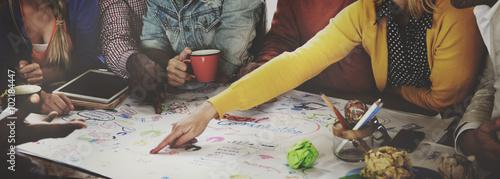 Obraz Start up Business Team Meeting Ideas Concept - fototapety do salonu