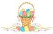 Watercolor Easter basket.