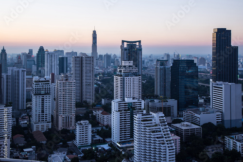 Cityscape in evening time